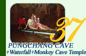 Pungchang Cave and Waterfall and Monkey Cave Temple