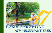Bamboo Rafting ATV and Elephant Trek