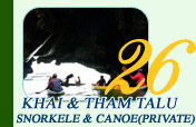 Khai and Thamtalu Snorkel and Canoe Private